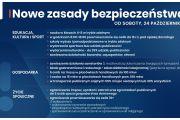 Nowe zasady bezpieczeństwa od 24 października